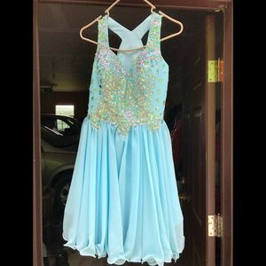 Light blue homecoming dress